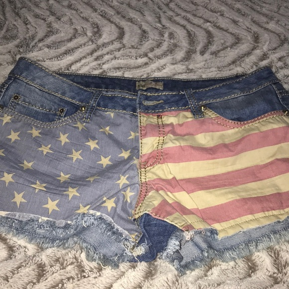YMI Pants - American flag shorts